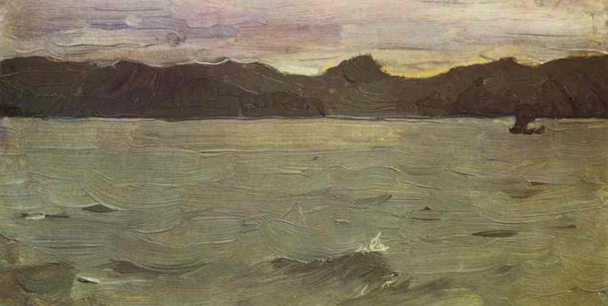 famous painting il bianco mare of Valentin Alexandrovich Serov