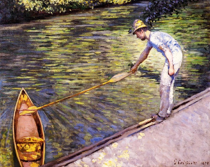 famous painting Paglietta Tirando suo Perissoire of Gustave Caillebotte