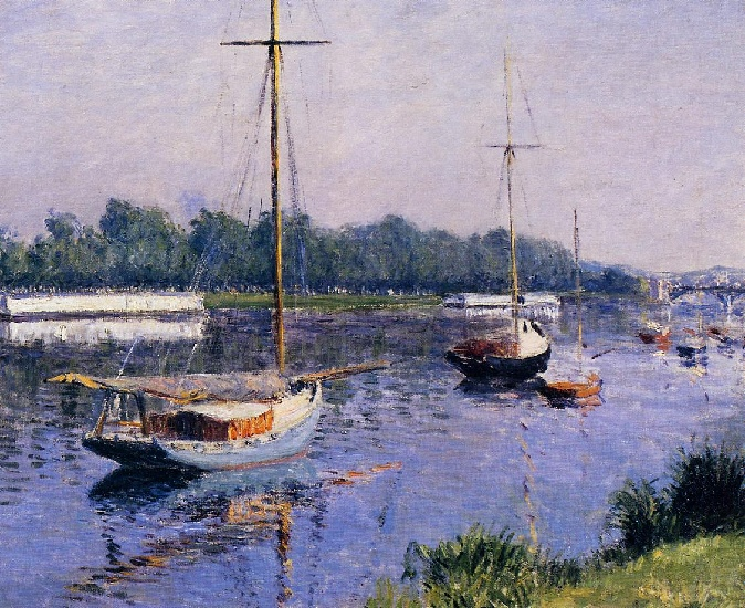 famous painting il `basin` a argenteuil of Gustave Caillebotte