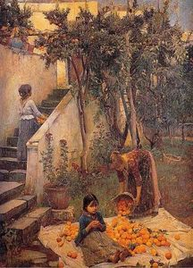 John William Waterhouse - The Orange raccoglitori