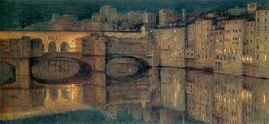 William Holman Hunt - Il Ponte Vecchio