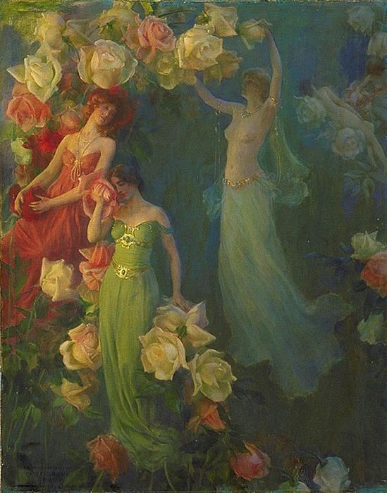 famous painting il `perfume` di rose of Charles Courtney Curran