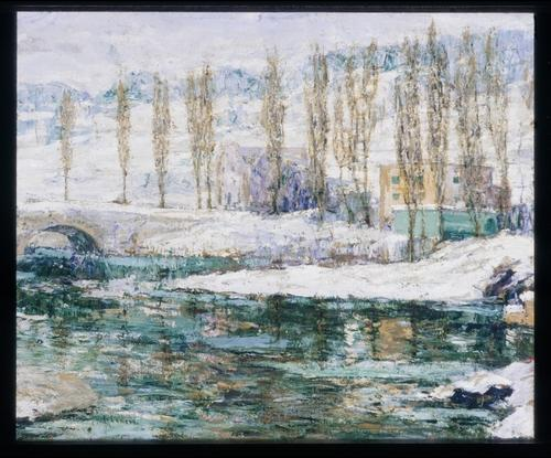 famous painting Inverno of Ernest Lawson