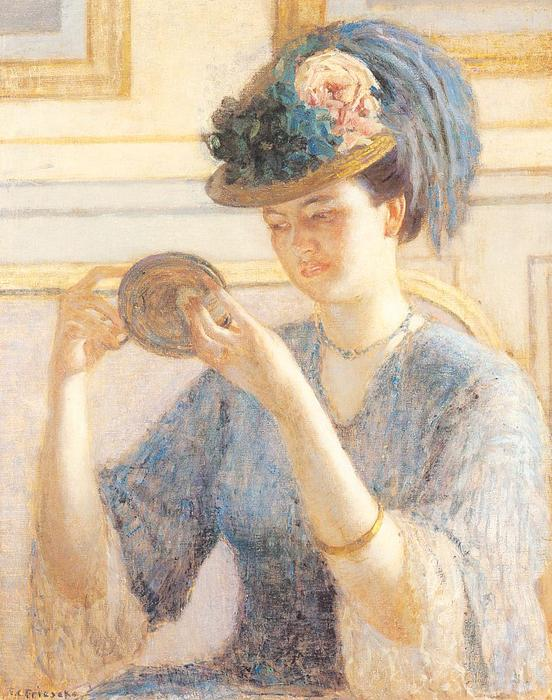 famous painting Riflessioni of Frederick Carl Frieseke