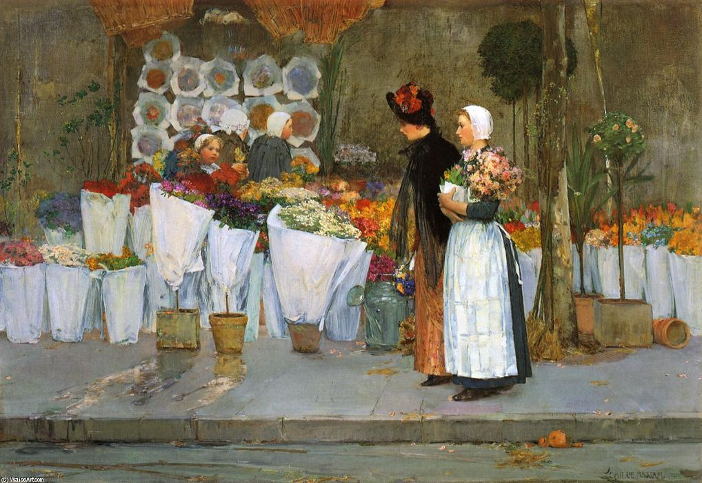 famous painting Alla Fiorista of Frederick Childe Hassam