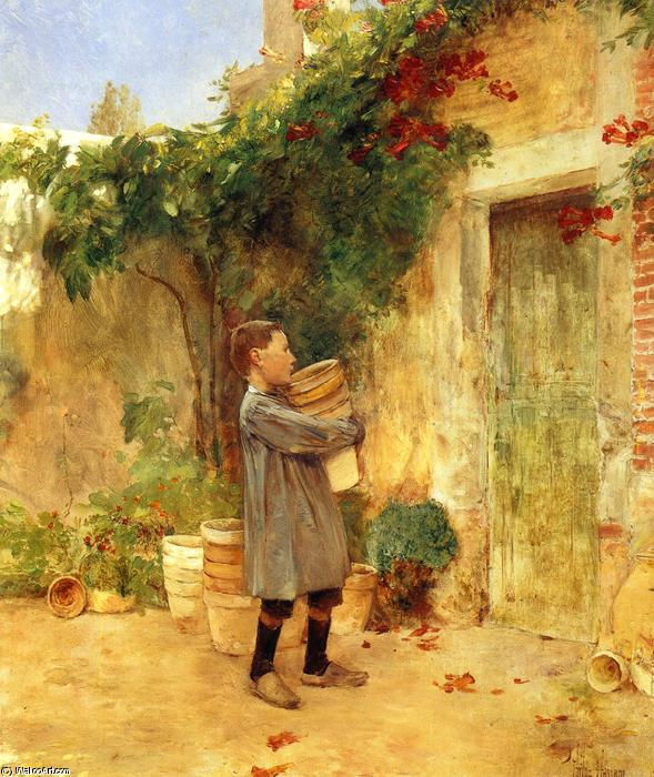 famous painting Ragazzo con fioriere of Frederick Childe Hassam