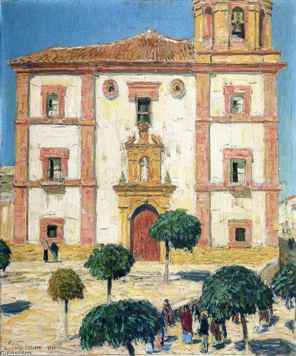 famous painting Cattedrale a Ronda of Frederick Childe Hassam