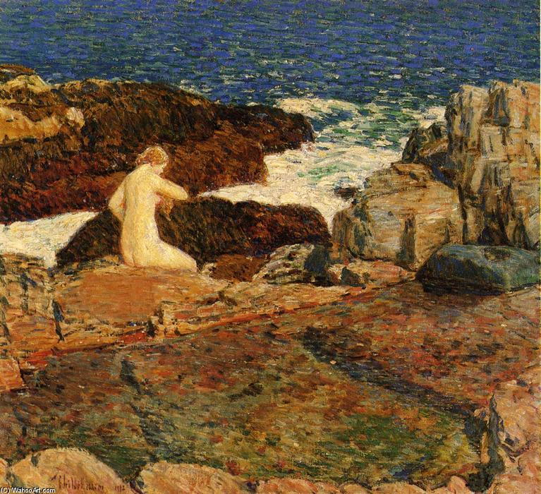 famous painting Oriente Headland Pool of Frederick Childe Hassam
