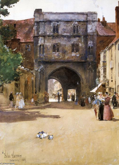 famous painting Gateway a Canterbury of Frederick Childe Hassam