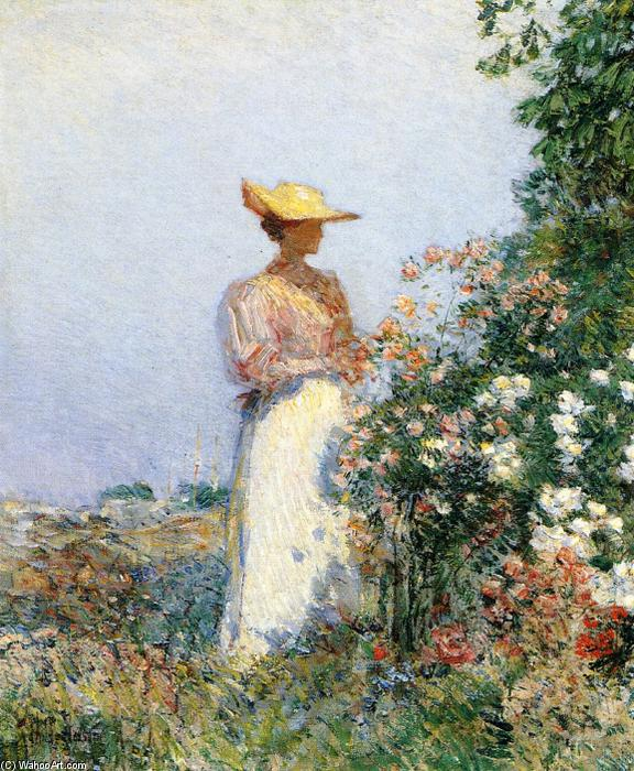 famous painting signora in fiore giardino of Frederick Childe Hassam