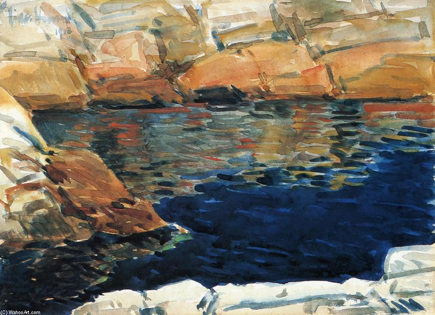famous painting cercando in `beryl` piscina of Frederick Childe Hassam