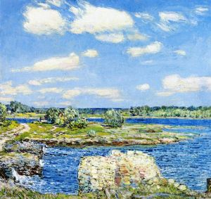 Frederick Childe Hassam - Mill Site e Old Todal Dam, Cos Cob