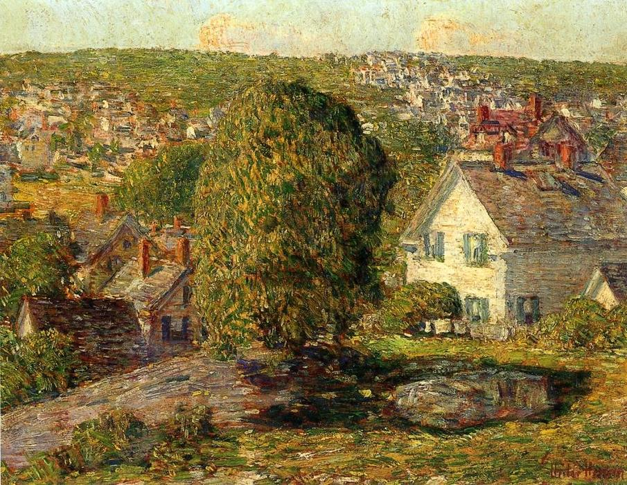 famous painting Periferia di East Gloucester of Frederick Childe Hassam