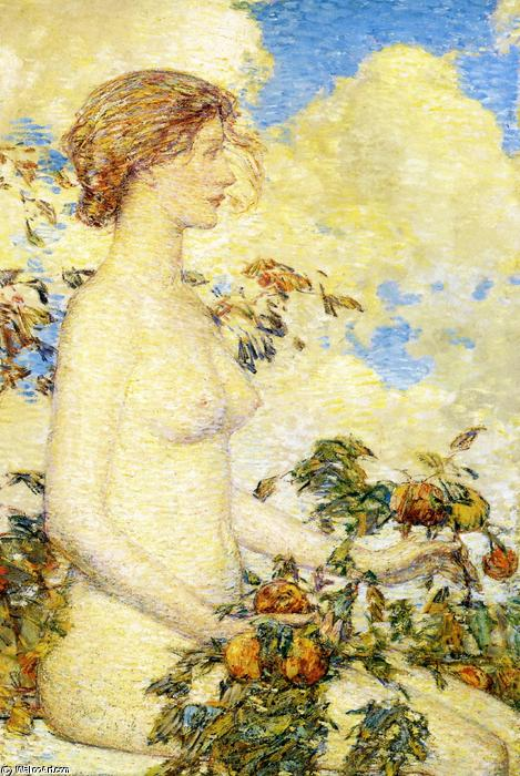 famous painting Pomona of Frederick Childe Hassam