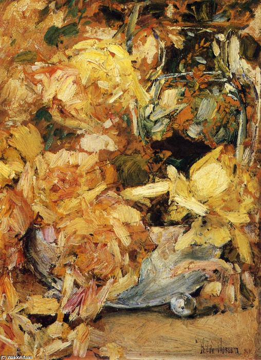 famous painting rose of Frederick Childe Hassam