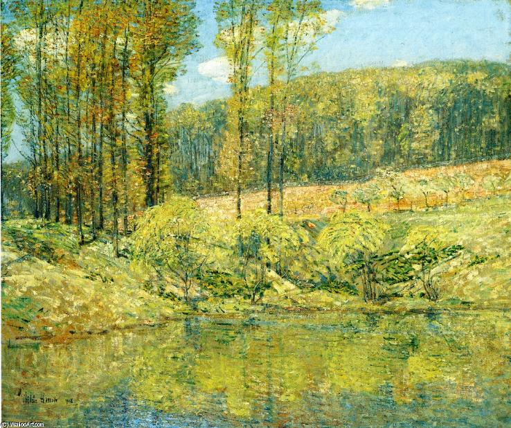 famous painting Molla , navesink highlands of Frederick Childe Hassam