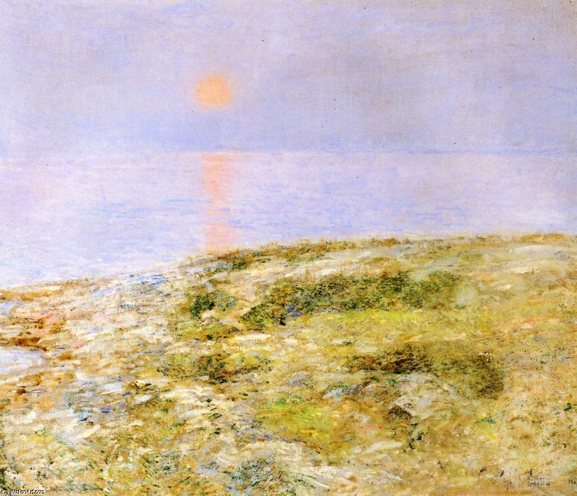 famous painting Tramonto, Isola di Shoals of Frederick Childe Hassam