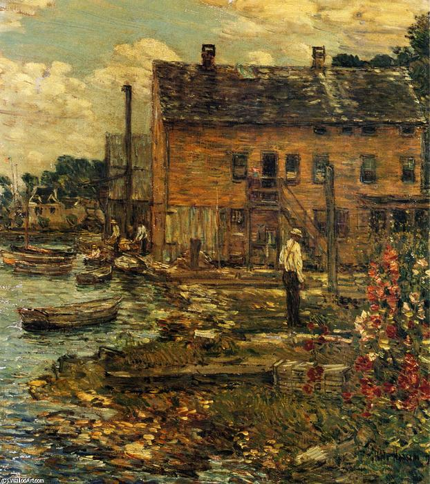 famous painting I pescatori, Cos Cob of Frederick Childe Hassam