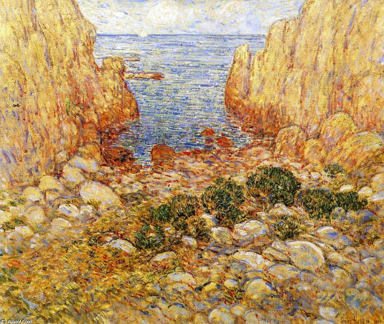 famous painting La gola - Appledore, Isles of Shoals of Frederick Childe Hassam