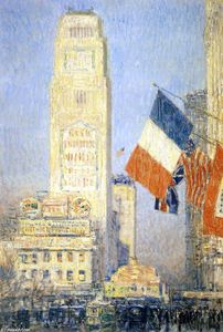Frederick Childe Hassam - il new york bouquet , Ovest Forty-Second Strada