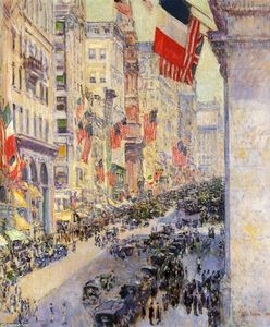Frederick Childe Hassam - Up the Avenue da trenta-Fourth Street 1917