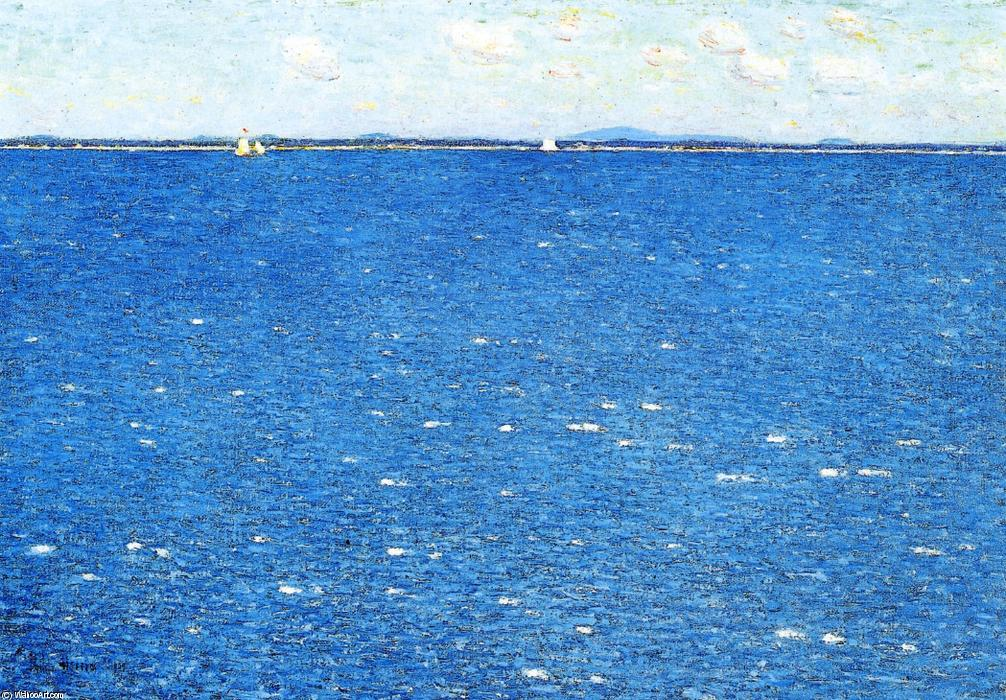 famous painting West Wind, Appledore of Frederick Childe Hassam