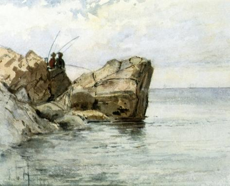 famous painting Giovani Pescatori of Frederick Childe Hassam