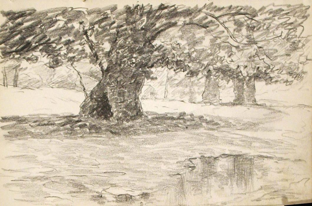 famous painting Albero in Puddle of John Ottis Adams