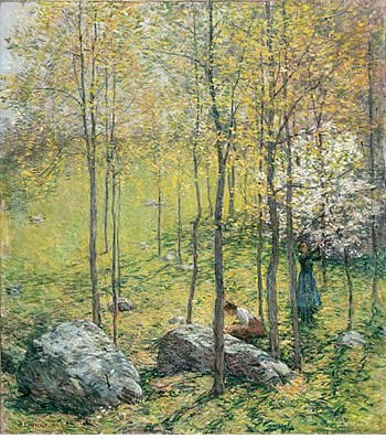 famous painting Corniolo Fiori ( No . 1 ) of Willard Leroy Metcalf