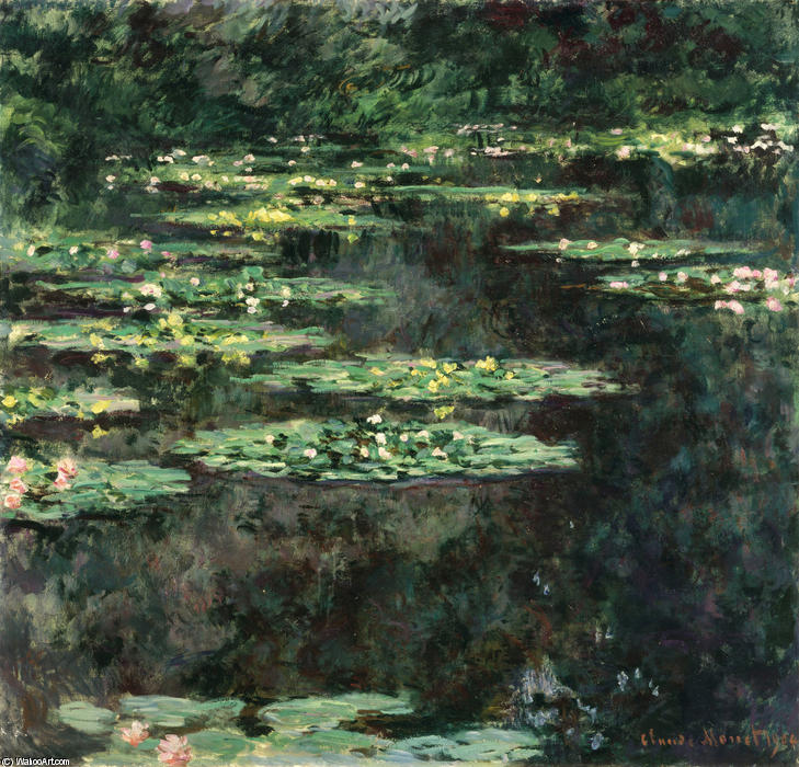 famous painting acqua gigli 11 of Claude Monet