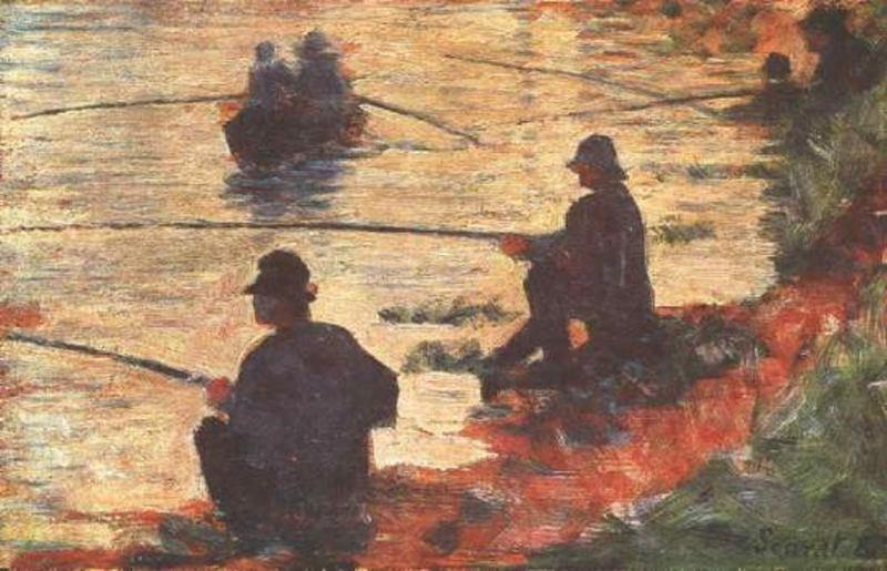 famous painting Pescatori of Georges Pierre Seurat