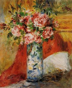 Pierre-Auguste Renoir - rose in un vaso 5
