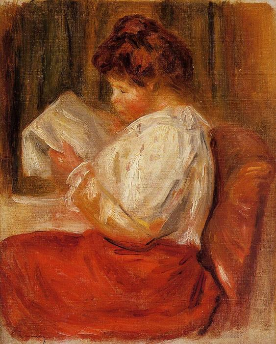 famous painting The Little Reader of Pierre-Auguste Renoir