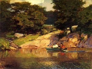 Edward Henry Potthast - Canottaggio in Central Parkk