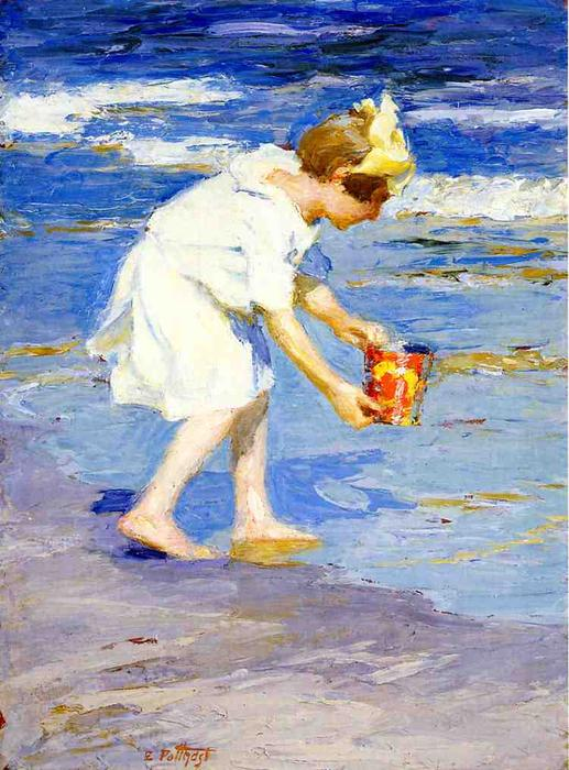 famous painting brighton spiaggia of Edward Henry Potthast