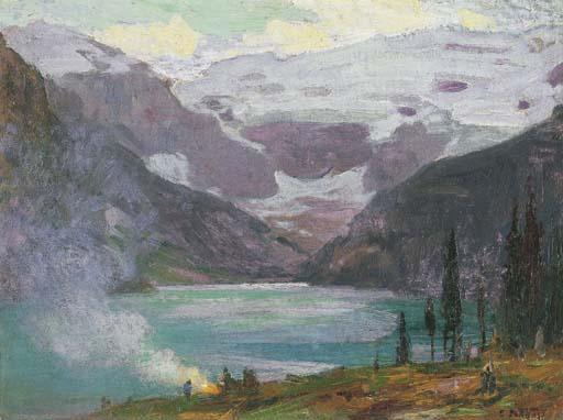 famous painting Camp di Lake Louise of Edward Henry Potthast