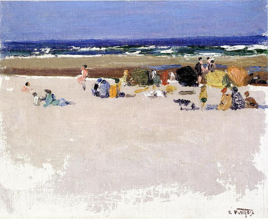 famous painting sulla spiaggia 1 of Edward Henry Potthast
