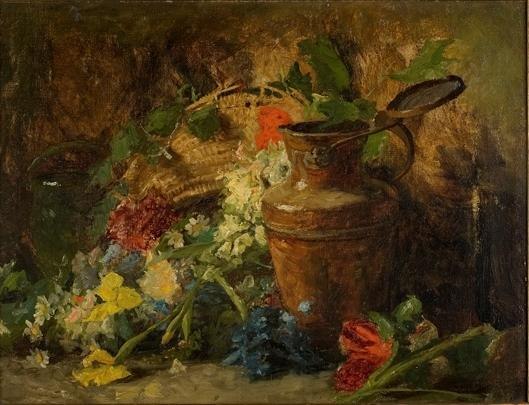 famous painting fiori e vaso of Theodore Clement Steele