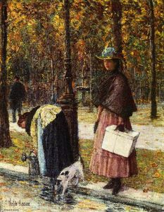 Frederick Childe Hassam - Sera , Champs-Elysees ( noto anche come pres du louvre )