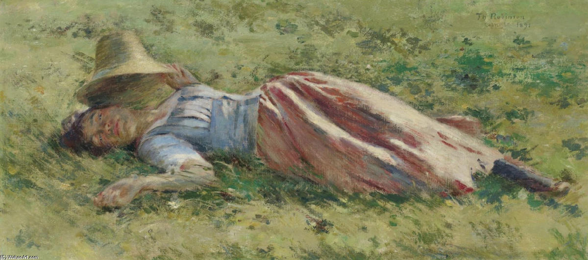 famous painting al sole of Theodore Robinson