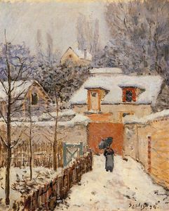 Alfred Sisley - neve a louveciennes