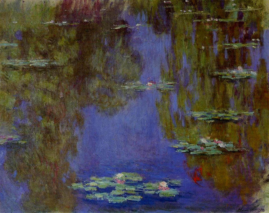 famous painting gigli d'acqua of Claude Monet