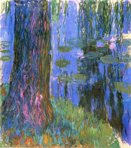 Claude Monet - Weeping Willow e Water-Lily Pond