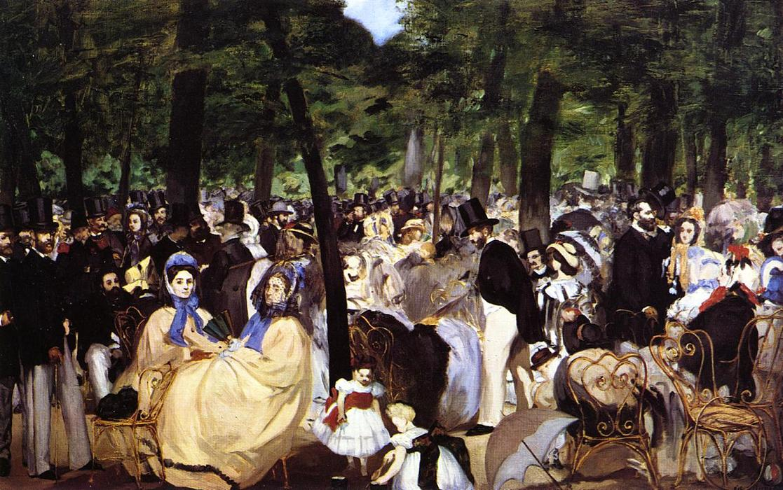 famous painting musica nel giardino delle tuileries of Edouard Manet