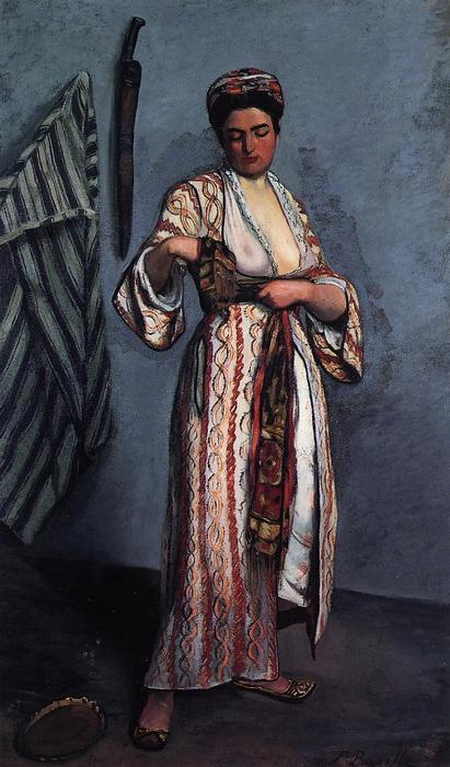 famous painting Donna in costume moresco of Jean Frederic Bazille