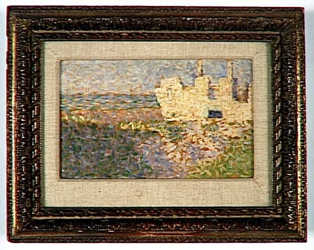 famous painting Rovine di Grandcamp of Georges Pierre Seurat