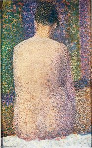 Georges Pierre Seurat - modello dal indietro