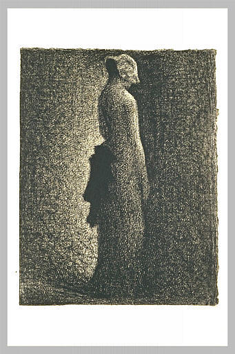famous painting L arco nero of Georges Pierre Seurat