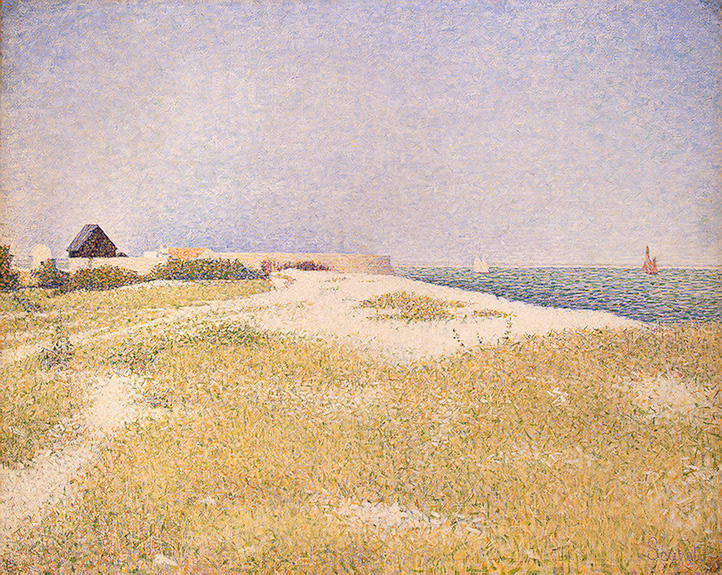 famous painting Veduta di Fort samson of Georges Pierre Seurat