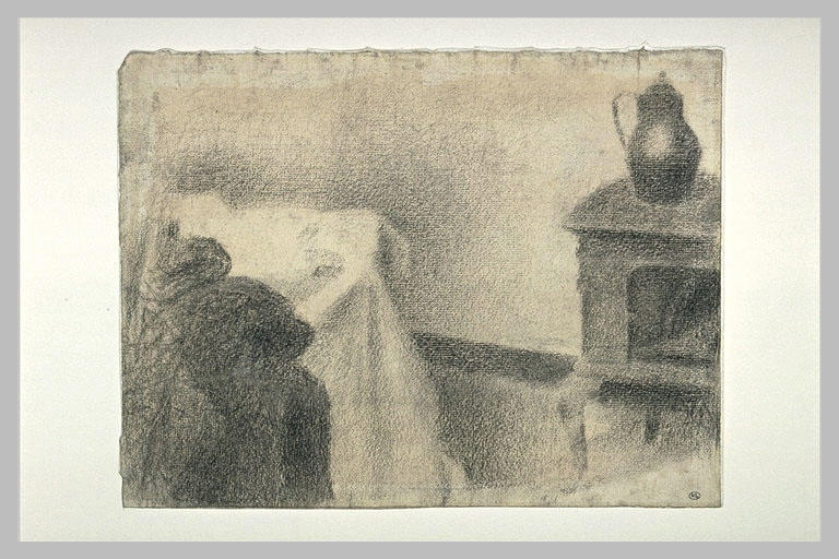 famous painting parte di studio of Georges Pierre Seurat